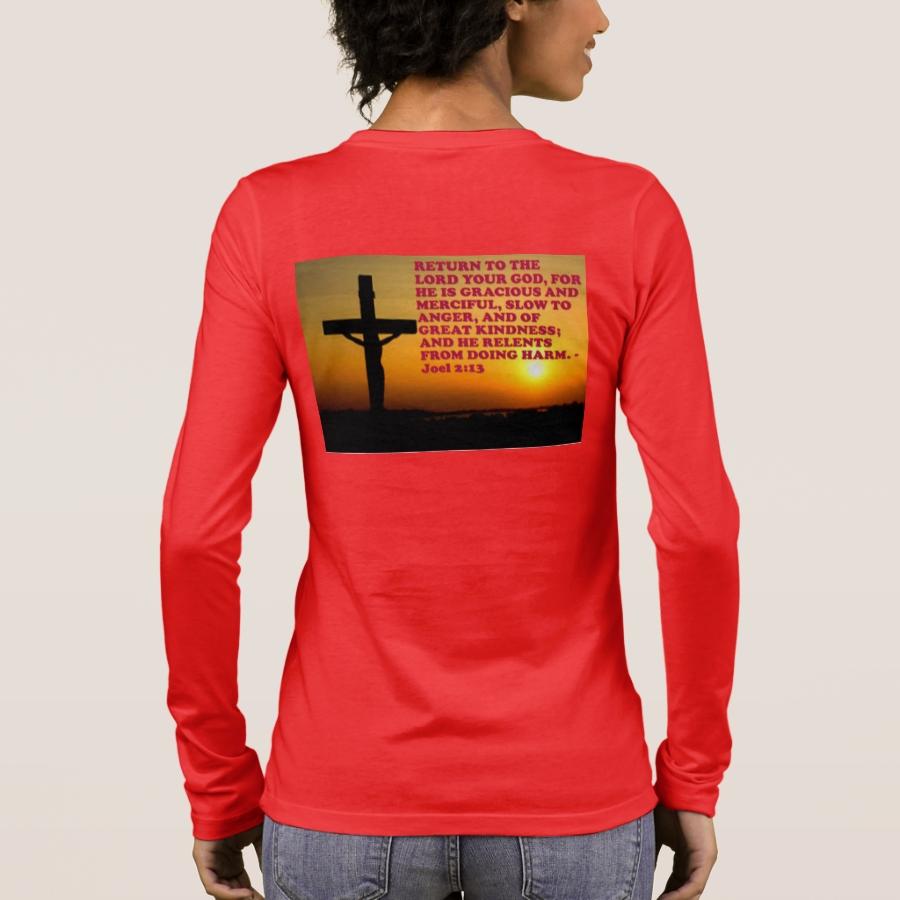 Bible Verse from Joel 2:13. Long Sleeve T-Shirt - Best Selling Long-Sleeve Street Fashion Shirt Designs