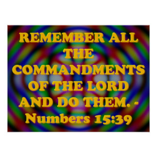 Bible verse from Numbers 15:39. Poster
