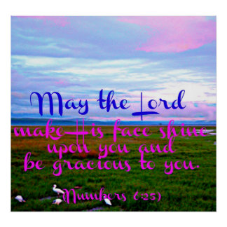 Bible verse from Numbers May the Lord make Poster