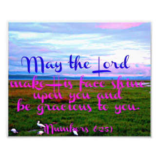 Bible verse from Numbers May the Lord Photo Print