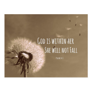 Bible Verse God Is Within Her She Will Not Fall Postcard