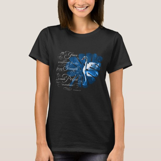 Bible Verse Grace Mute Swan T-shirt
