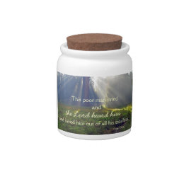 Bible Verse Gratitude or Candy/Treat  Jar Candy Jars
