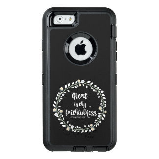 Bible Verse: Great is thy Faithfulness OtterBox Defender iPhone Case