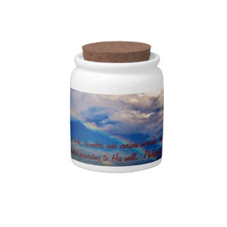 Bible Verse - Hebrews 2:4 Candy Jar