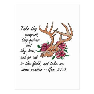 Bible Verse Hunting Postcard