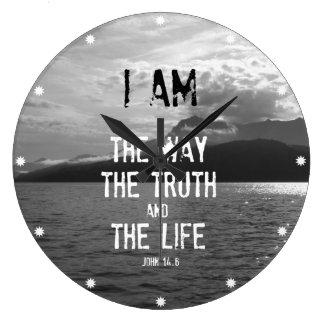 Bible Verse: I am the Way, Truth, Life Clock