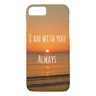 Bible Verse: I am with you Always iPhone 8/7 Case