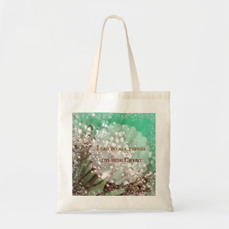 Bible Verse: I can do all things through Christ Canvas Bag
