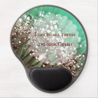 Bible Verse: I can do all things through Christ Gel Mouse Pad