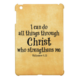Bible Verse: I can do all things through Christ iPad Mini Cases