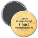 Bible Verse: I can do all things through Christ Fridge Magnets