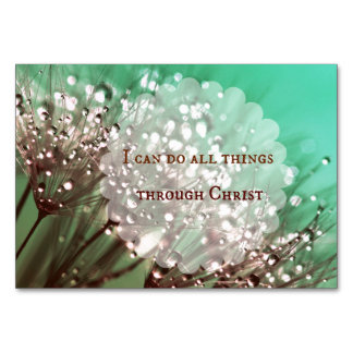 Bible Verse: I can do all things through Christ Table Card