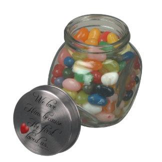 Bible Verse I John 4 19 We Love Him Kitchen Jelly Belly Candy Jar