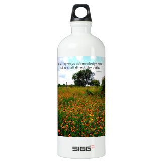 BIBLE VERSE In all thy ways acknowledge him Aluminum Water Bottle