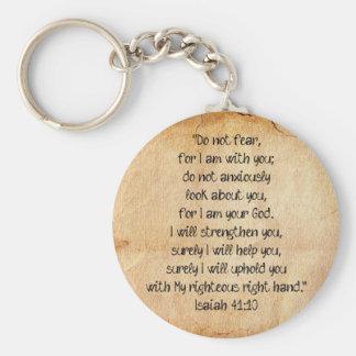 Bible Verse Isaiah 40:10 Keychain