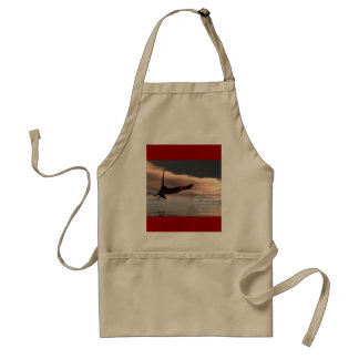 Bible Verse Isaiah 40: 28-31 with Eagle Adult Apron