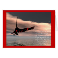 Bible Verse Isaiah 40: 28-31 with Eagle Card