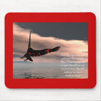 Bible Verse Isaiah 40: 28-31 with Eagle Mouse Pad