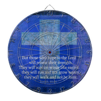 Bible Verse Isaiah 40:-31 contemporary Christian Dartboard