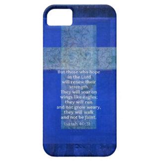Bible Verse Isaiah 40:-31 contemporary Christian iPhone SE/5/5s Case