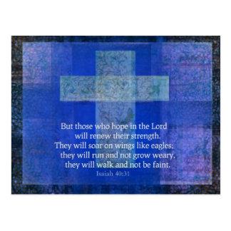 Bible Verse Isaiah 40:-31 contemporary Christian Postcard