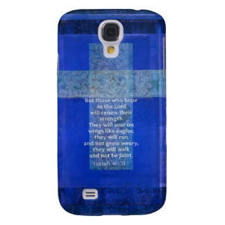 Bible Verse Isaiah 40:-31 contemporary Christian Samsung Galaxy S4 Cover