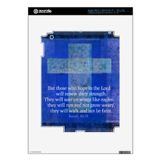 Bible Verse Isaiah 40:-31 contemporary Christian Decal For iPad 3