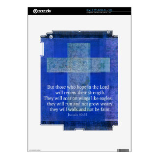Bible Verse Isaiah 40:-31 contemporary Christian Decals For iPad 2