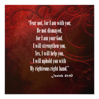 Bible Verse Isaiah 41 10 Photograph Picture Card