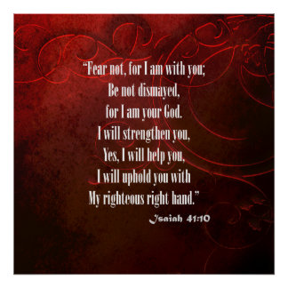 Bible Verse Isaiah 41 10 Poster