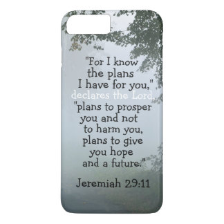 Bible Verse Jeremiah 29:11 I Know the Plans I Have iPhone 8 Plus/7 Plus Case