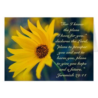 Bible Verse Jeremiah 29:11, Wildflower Custom Card