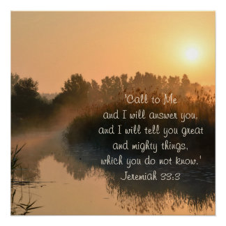 Bible Verse Jeremiah 33:3 Perfect Poster