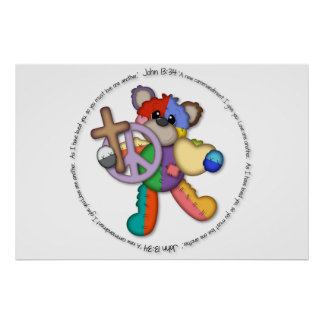"""Bible Verse John 13 """"Love One Another"""" poster"""