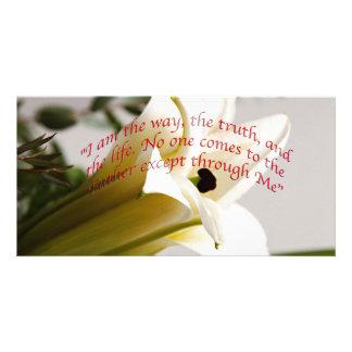 Bible Verse John 14-6 Flower Invitation Card Photo Card