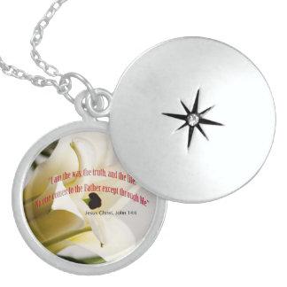 Bible Verse John 14-6 Over Flower Jewelry