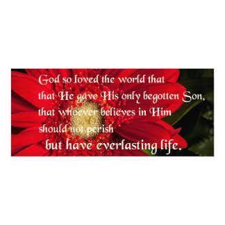 Bible Verse John 3:16 Flower Card Or Invitation