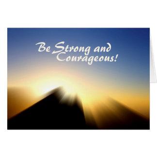 Bible Verse Joshua 1:9 Sunrise Greeting Card