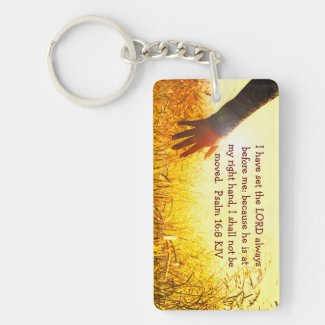 Bible Verse Key Chain - Psalm 16:8
