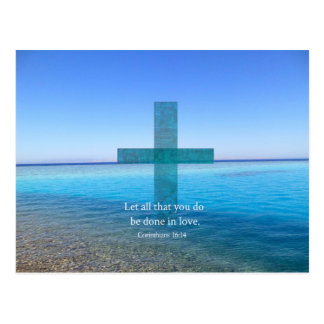 BIBLE VERSE - Let all that you do be done in love Postcard
