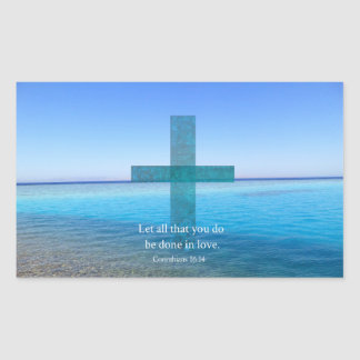 BIBLE VERSE - Let all that you do be done in love Rectangular Sticker