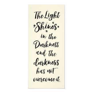 Bible Verse Light in the Darkness Quote Flat Card