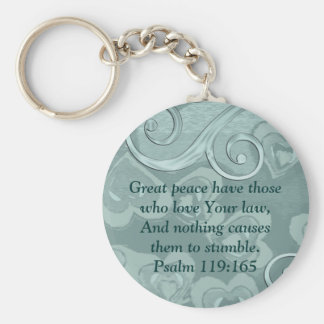 Bible Verse - Love / Christian Witness Template Basic Round Button Keychain