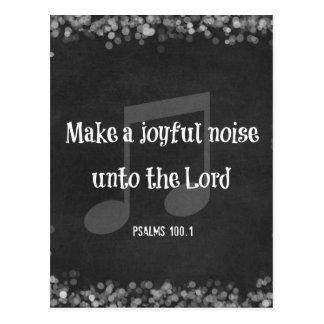 Bible Verse: Make a Joyful Noise Postcard