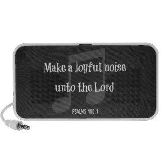 Bible Verse: Make a Joyful Noise Laptop Speaker