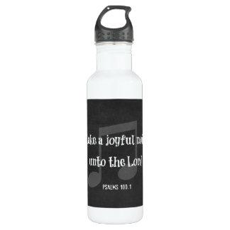 Bible Verse: Make a Joyful Noise Stainless Steel Water Bottle