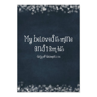 Bible Verse : My Beloved is Mine and I am His Card