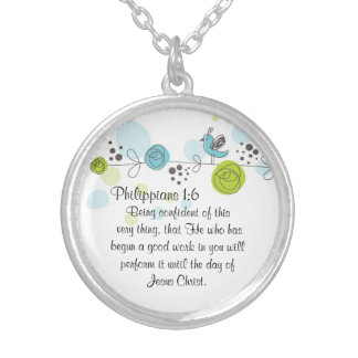Bible Verse Necklace Gift Philippians 1:6
