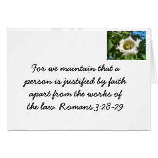 Bible verse on faith stationery note card